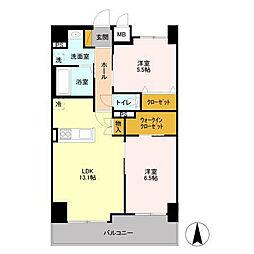 フロンティア・コンフォート研究学園[12階]の間取り