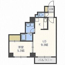 KN南1条マンション[4階]の間取り