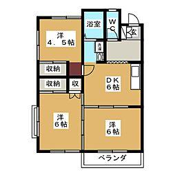 コーポS[2階]の間取り