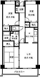 東京都三鷹市北野1丁目の賃貸マンションの間取り