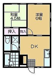 千葉県佐倉市宮小路町の賃貸アパートの間取り