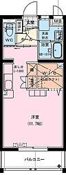 (仮称)神宮東2丁目マンション 4階ワンルームの間取り