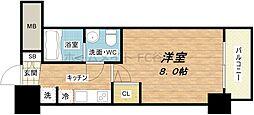 SERENiTE堺筋本町SUD[14階]の間取り