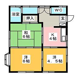 清島ハイツ[1階]の間取り