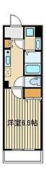 西武池袋線 桜台駅 徒歩3分の賃貸マンション 1階1Kの間取り