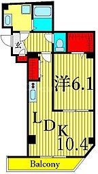 東京メトロ日比谷線 三ノ輪駅 徒歩12分の賃貸マンション 7階1LDKの間取り