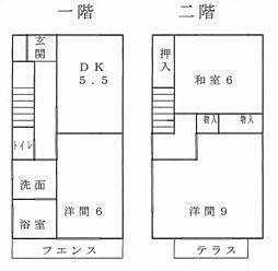 [タウンハウス] 群馬県桐生市川内町2丁目 の賃貸【/】の間取り