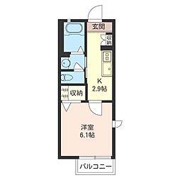 パステルハウスK[2階]の間取り