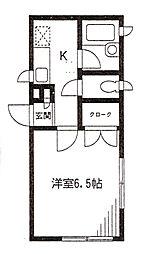 神奈川県横浜市港北区樽町1の賃貸アパートの間取り