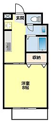 愛知県豊田市下市場町7丁目の賃貸アパートの間取り