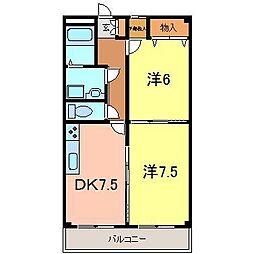 ゴールドマンションII[333号室]の間取り