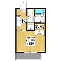 京都府京都市北区大将軍南一条町の賃貸アパートの間取り