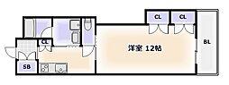 大阪府大阪市西成区天下茶屋1丁目の賃貸マンションの間取り