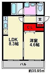 J-PLACE大橋南[7階]の間取り