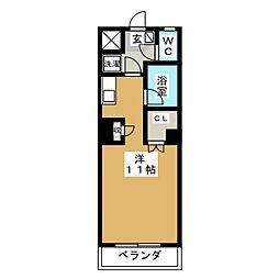 ウェルコート小松島[1階]の間取り
