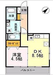 東京メトロ東西線 木場駅 徒歩13分の賃貸アパート 1階1LDKの間取り