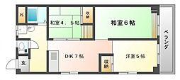 高塚増田ハイツ[3階]の間取り