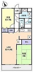 第一小倉マンション[2階]の間取り