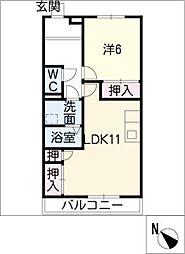 有松ヒルズ A棟[2階]の間取り