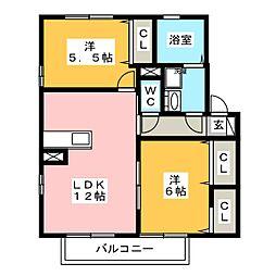 リヴェール[2階]の間取り