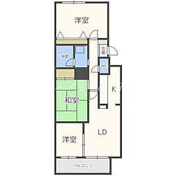 ガーデンハウス山鼻南II[2階]の間取り