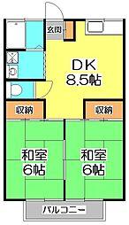 コーポ松本[1階]の間取り