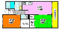 フィールド・パークII番館 402号室[4階]の間取り