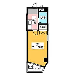 ションブルジス加賀[4階]の間取り