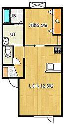高栄東町新築物件[2-B号室]の間取り