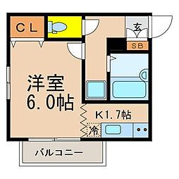 東京都江戸川区一之江4丁目の賃貸アパートの間取り