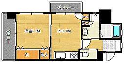 フェルト1113 7階1DKの間取り