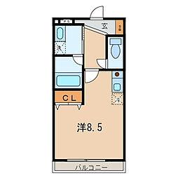 埼玉県越谷市柳町の賃貸アパートの間取り
