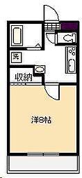 学園台コーポII[104号室]の間取り