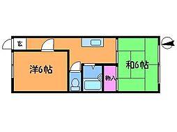東京都三鷹市中原1丁目の賃貸マンションの間取り
