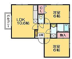 メゾンドクレール門松[1階]の間取り