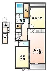 サプリング オーチャードB[2階]の間取り