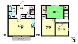 [テラスハウス] 奈良県奈良市神功5丁目 の賃貸【奈良県 / 奈良市】の間取り