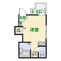 東京都足立区中川2の賃貸アパートの間取り