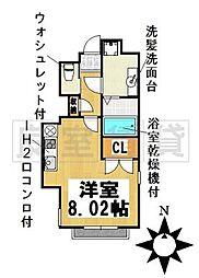 愛知県名古屋市千種区見附町2丁目の賃貸マンションの間取り