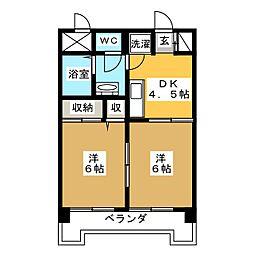 第十三ショーケービル[5階]の間取り