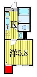 東武野田線 塚田駅 徒歩15分の賃貸アパート 1階1Kの間取り