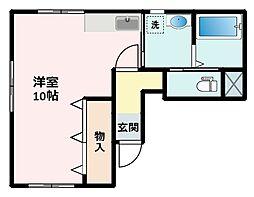 アバンティ田島A棟[A102号室]の間取り
