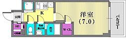 エスリード神戸三宮ラグジェ[5階]の間取り