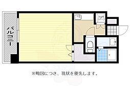 JR鹿児島本線 吉塚駅 徒歩8分の賃貸マンション 11階1Kの間取り