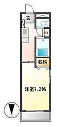 エスポワール神澤[3階]の間取り