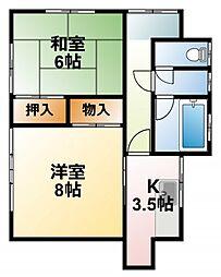 [一戸建] 千葉県東金市東金 の賃貸【/】の間取り