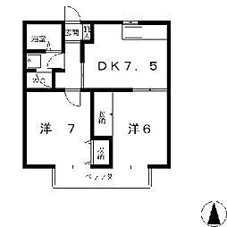 サンハイツHAMA[2階]の間取り