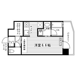 JR山手線 渋谷駅 徒歩10分の賃貸マンション 2階1Kの間取り