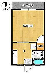コーポ依田[1階]の間取り