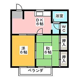 ニューシティ和泉[2階]の間取り